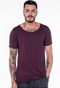 Camiseta Gola Canoa Mescla Rubi