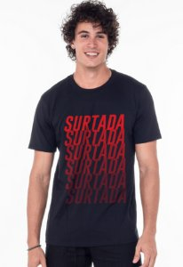 Camiseta Tradicional Preta Surtada