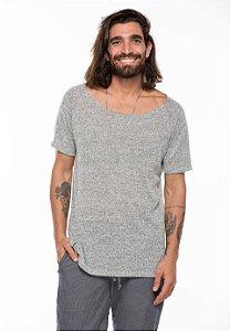 Camiseta Canoa Raglan Long Tricô Melange