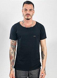 Camiseta Canoa Raglan Long Preta