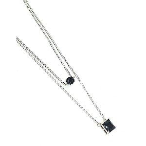 Corrente de Aço Inox Black Drip Prata