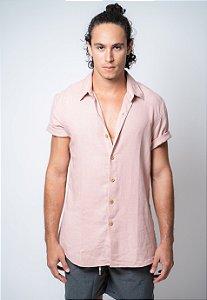 Camisa de Botão Linho Véria Goiaba