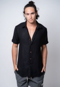 Camisa de Botão Linho Véria Preto