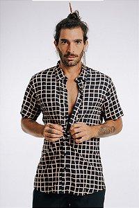 Camisa de Botão Black Chess