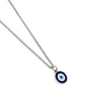Corrente Aço Inox Olho Grego Azul