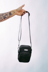 Shoulder Bag Nylon All Black