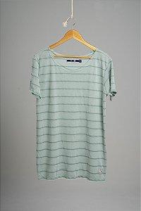Camiseta Gola Canoa Tricô Ocean Verde Claro