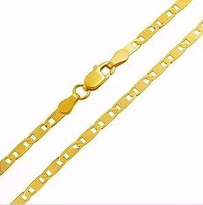 Corrente Piastrine De Ouro 18k 750 45cm 1.4gramas