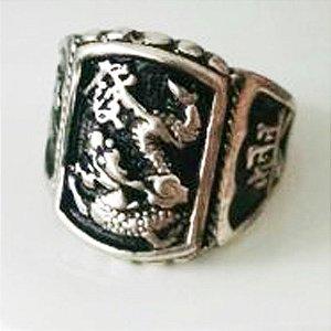 Anel de Prata 950 Dragão Chinês