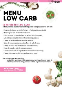 Menu Low Carb