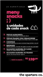 Menu Snacks - 12 lanches funcionais