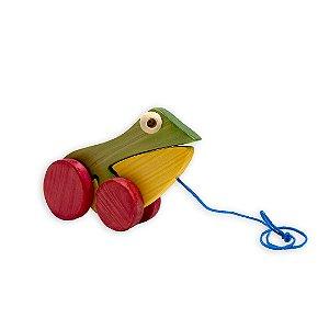 Sapinho em madeira - Gerana Brinquedos Educativos