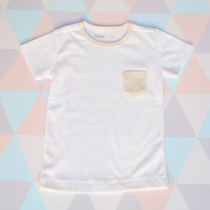 Camiseta em algodão orgânico - Manga curta - Branca