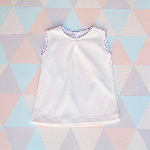 Camiseta em algodão orgânico - Regata - Lilás