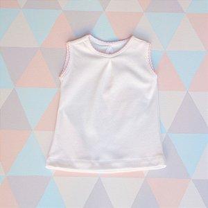 Camiseta orgânica - Regata - Rosa