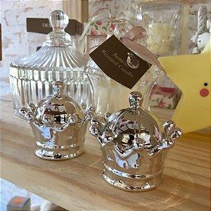 Coroa para decoração em cerâmica - Prata