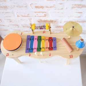 Jogo Pequena Percussão Baby Madeira