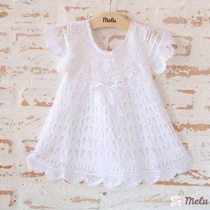 Vestido de Renda Renascença - Isa - 9 a 12 meses