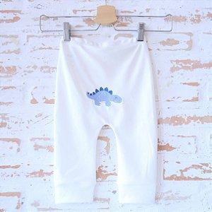 Calça orgânica modelo yoga - Bordado Dino Azul