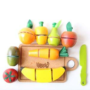 Coleção Comidinhas - Kit Frutinhas com Corte