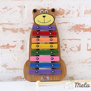 Metalofone Infantil 8 teclas - Urso