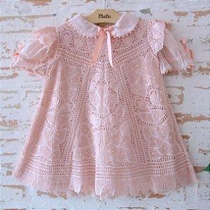Vestido de Renda Renascença  - Leticia - 1- 2 anos