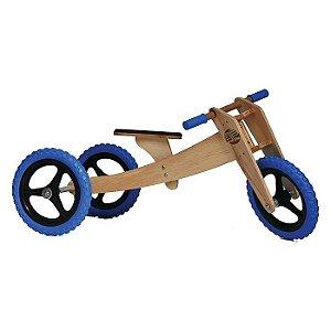 Bicicleta sem pedal Woodbike 3 em 1 - Azul