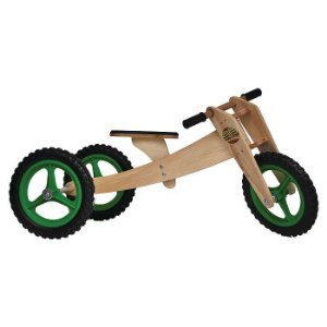 Bicicleta sem pedal Woodbike 3 em 1 - Verde