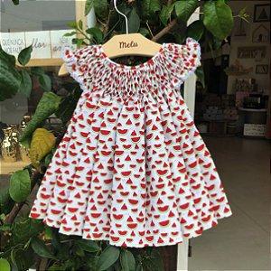 Vestido Casinha de Abelha - Melancia