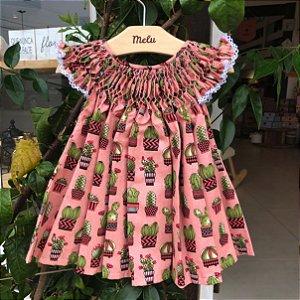 Vestido Casinha de Abelha - Cactos