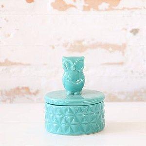 Porta jóia em porcelana - Coruja - 6X9cm
