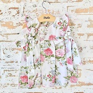 Vestido com laços - floral
