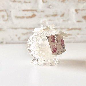 Pote de vidro com vela perfumada decorativa