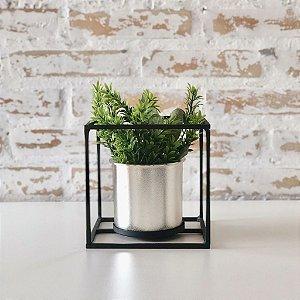 Vaso de metal - quadrado