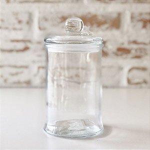Pote de vidro com tampa - 14cm