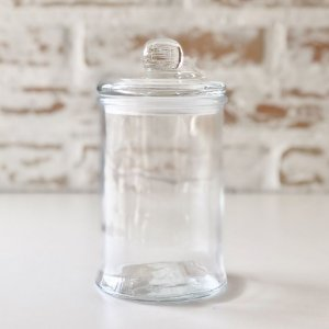 Pote de vidro com tampa - pequeno