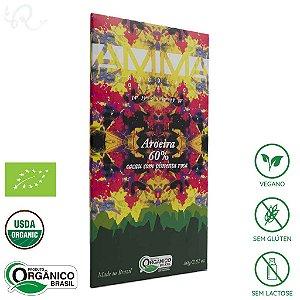 Chocolate Amma Orgânico Aroeira 60% Cacau 80g - Amma Chocolate