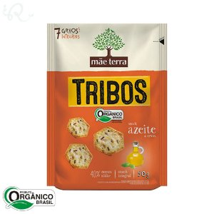 Biscoito Orgânico Tribos sabor Azeite e Ervas 50g - Mãe Terra