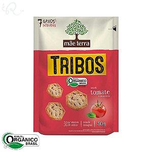 Biscoito Orgânico Tribos Snack Tomate e Manjericão 50g - Mãe Terra (CONSUMO IMEDIATO)
