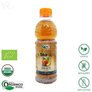 Chá Mate Orgânico Pêssego 330ml - Tearapy