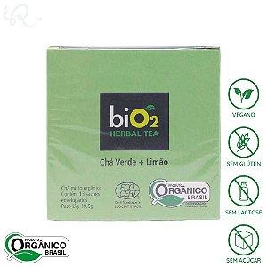 Chá Verde Orgânico com Limão 13 sachês - biO2 Organic (CONSUMO IMEDIATO)