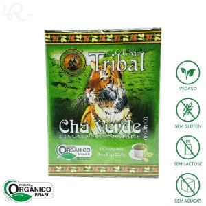 Chá Orgânico de Chá Verde, Limão e Gengibre 15 sachês - Tribal Brasil