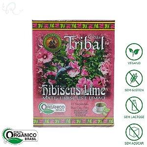 Chá Orgânico de Erva Mate Hibiscus Lime 15 sachês - Tribal Brasil