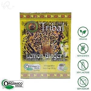 Chá Mate com Limão e Gengibre Orgânico 15 sachês - Tribal Brasil