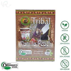 Chá Mate Vanilla Peach Orgânico 15 sachês - Tribal Brasil