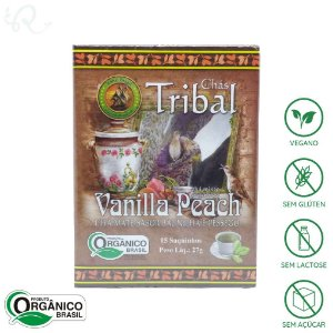 Chá Orgânico de Erva Mate Vanilla Peach 15 sachês - Tribal Brasil