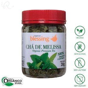 Chá Orgânico de Melissa 20g - Blessing (CONSUMO IMEDIATO)