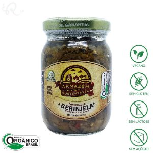 Conserva de Berinjela Orgânica 240g - Armazém Sustentável