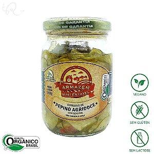 Conserva Orgânica de Pepino com Gengibre 240g - Armazém Sustentável (CONSUMO IMEDIATO)