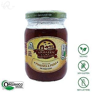 Geleia de Pimenta e Pera Orgânica 280g - Armazém Sustentável